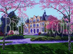 UW. Denny hall Original acrylic painting university of washington