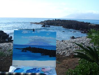 Nahuna point painting Maui Hawaii seven 7 graves