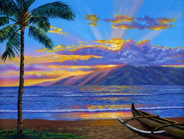 The gallery for --> Beach Sunset Acrylic Painting