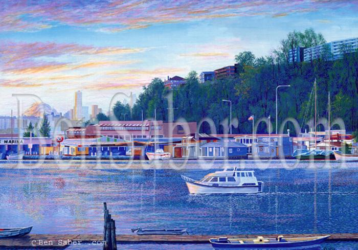 fremont seattle painting boat lake union