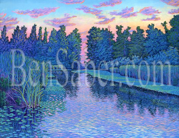 uw arboretum painting picture university of washington canal lake waterlilies