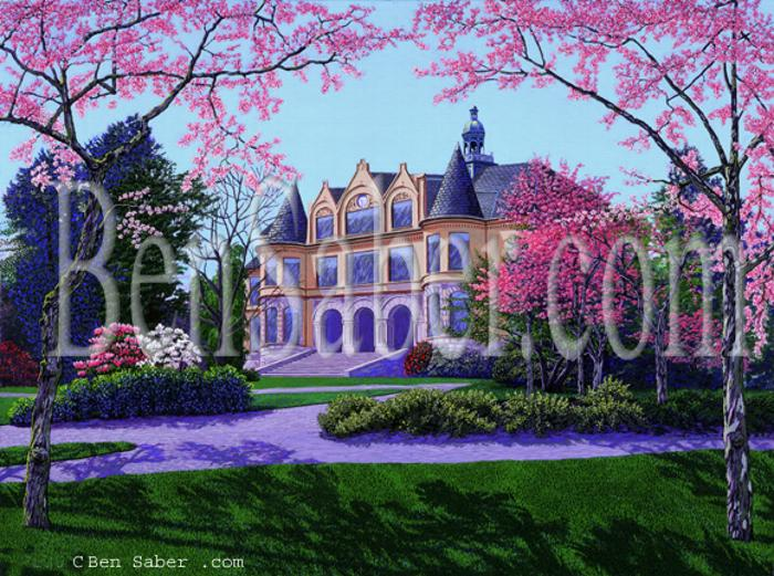 denny hall university of washington painting picture