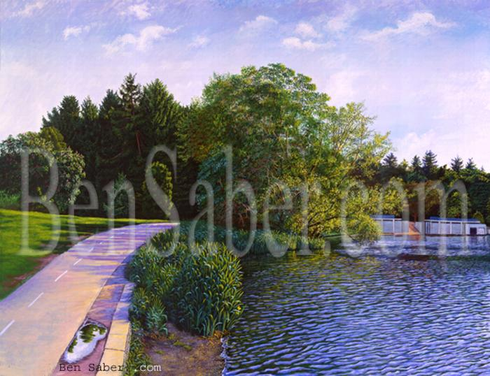greenlake painting path golf seattle picture art
