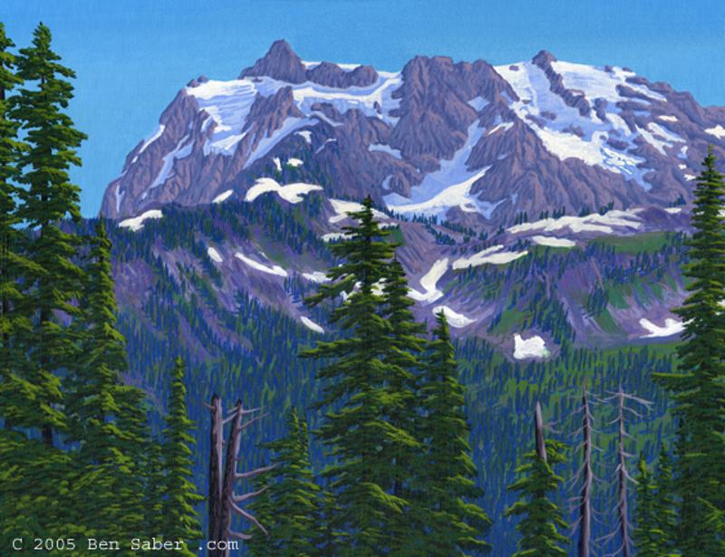 Mt Shuksan Artist point painting picture